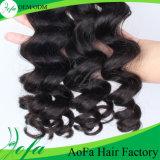 広州Aofa 7Aの等級ボディ波のブラジルの人間の毛髪のWeftバージンの毛の拡張