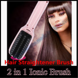 Pink Black Hair Straight Brush를 가진 2 In1