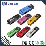 공장 도매 실제적인 수용량은 로고 회전대 USB 섬광 드라이브를 주문을 받아서 만들었다