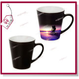 12oz Glossy Black Color Latte Жар-чувствительное Color Changing Mug