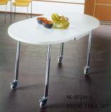 De giro redonda jantar de Ovel do tamanho pequeno moderno (NK-DT244-1)