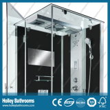 Rectangle Hingle Computador Display Shower Cubicle com prateleira de vidro (SR114B)