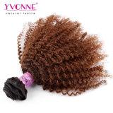 자연적인 아프로 꼬부라진 브라질 사람의 모발 연장 Ombre 머리