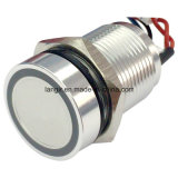 Langir 16mm aluminio anillo luminoso Piezo Switch (PZ-A16)