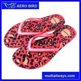 熱いヒョウプリントPEの女性の粋なスリッパのサンダルの靴