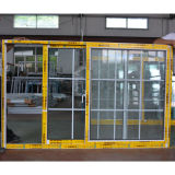 Finestra di scivolamento di alluminio rivestita della polvere con la griglia/finestra di scivolamento di alluminio Kz007