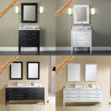 Fed-1264 36 Inch Beautiful Ceramic Sink Modern White Bathroom Cabinets