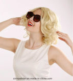 Parrucca piena naturale del merletto dei capelli ricci di Marilyn Monroe di modo breve