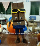 Traje personalizado da mascote do caráter do chocolate