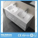 Finalización de alta Piedra tocador de baño con dos Vanidad lado y dos cuencas (BF116N)