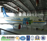가벼운 Steel Structure Aircraft Hangar Prefab House 및 Garage 또는 Storage