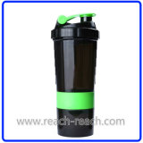 Copo plástico do abanador do misturador da proteína (R-S039A)