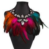 Преувеличенный Multi-Color ювелирные изделия ожерелья ворота диаманта пера способа