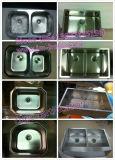 Bassin fabriqué à la main, bassin, bassin de cuisine, Topmount 50/50 (HMTD3219)