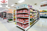Supermarkt-Regal, Gondel-Regal, doppeltes Seiten-Regal mit flachem Rückenbrett