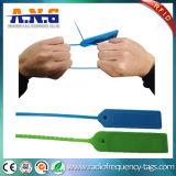 Equipaje de los PP que sigue etiquetas del verde RFID de la etiqueta de la atadura de cables