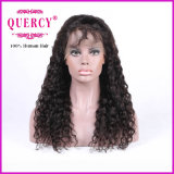 熱い販売! ! 長い方法アフリカ系アメリカ人のための巻き毛のブラジルのバージンの人間の毛髪の前部レースのかつら