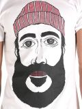 T-shirt bon marché d'été fait sur commande en gros chaud de coton de mode estampé par écran principal d'hommes