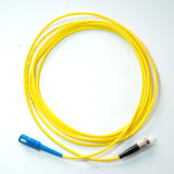 Sc ao cabo de correção de programa da fibra óptica da manutenção programada do revestimento de PVC de FC
