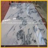Nuove mattonelle di marmo bianche Polished per la cucina/il pavimento e parete della stanza da bagno