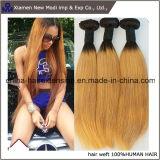 Twee Uitbreidingen van het Menselijke Haar van Remy van het Menselijke Haar van de Kleur