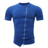 Té fondamental occasionnel de dessus de T-shirt de chemise de circuit de gymnastique des sports des hommes