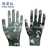 13 de Handschoenen van het Werk van de Tuin van de Polyester van de maat met Met een laag bedekt Nitril