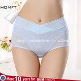 Sanitários Physiological do roupa interior Menstrual confortável do jacquard das senhoras Abdômen-Suportam a cuecas da menstruação do Anti-Escapamento dos sumários