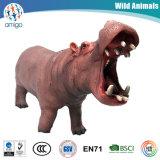 Jouets d'hippopotame d'animal sauvage de PVC de plastique d'OEM 3D de qualité