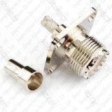 Loch-Flansch-Panel-Montierungs-Falz-Verbinder Pl259 So239 UHFweiblicher Jack 4 für Rg58 LMR195 Rg400 Rg412 Kabel