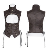 Waistcoats Double-Breasted de Steampunk do colar elevado popular do assassino da mulher Y-775