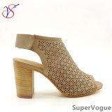 De Manier van het Geslacht van drie Kleur hielde sociaal hoog Vrouwen Dame Sandals Shoes voor Zaken sv17s001-02-B