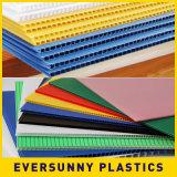 Feuille en plastique ondulée creuse de la qualité pp Sheet/PP