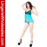 Las mujeres vuelan el cordón ausente de la pestaña y la ropa interior atractiva Strappy de la muñeca del acoplamiento