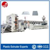 Linha de produção rígida da extrusão da placa do PE plástico para a venda