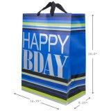 Bolso de papel del regalo de Brithday, bolso del regalo, bolso de compras de papel, bolsa de papel de Kraft