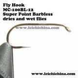Ganchos de leva pelados de calidad superior de la pesca de mosca del precio al por mayor