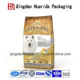 El plástico que se levanta el alimento de animal doméstico empaqueta bolsos del alimento de perro
