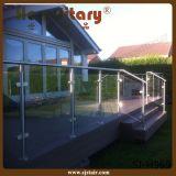 De buiten Balustrade van het Traliewerk van het Glas van Frameless van de Tuin (sj-S345)