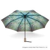 Automobile ouverte et parapluie se pliant de mode proche avec le bâti/côtes de fibre de verre