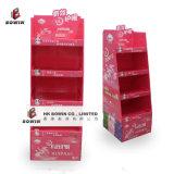 Nuevo estilo de crimpado de papel / cartón B-flauta de pie Display Stand / Pop Display