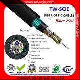 Câble blindé 12f mm/Sm GYTY53 de fibre optique avec la bande en acier et le tube desserré échoués