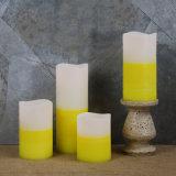 Пакет 4 свечек штендера белизны эксплуатируемых батареей непламенных СИД напольных