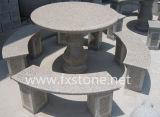 Traditioneller geschnitzter Steintisch für Park