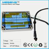7.4V 30ah nachladbare Batterie-Satz Mesens