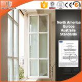 분말 입히는 알루미늄 합금 단단한 오크재 Windows, 주문을 받아서 만들어진 크기 알루미늄 Clading 단단한 나무 여닫이 창 Windows