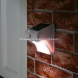Lumières solaires extérieures blanches de mur de détecteur de mouvement de degré de sécurité de mur de jardin de DEL avec le détecteur de mouvement