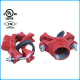 Te mecánica del hierro dúctil de FM/UL Certificationapproved con el enchufe roscado