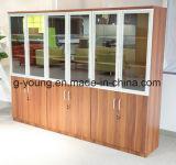Gabinete de arquivo de vidro do escritório da mobília do projeto da porta
