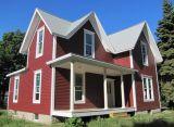 2층 조립식 별장 녹색 집